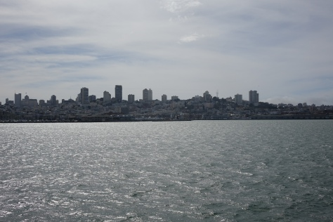 The view of San Francisco from the Rock.