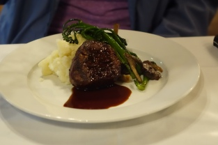 filet mignon with truffle potato puree